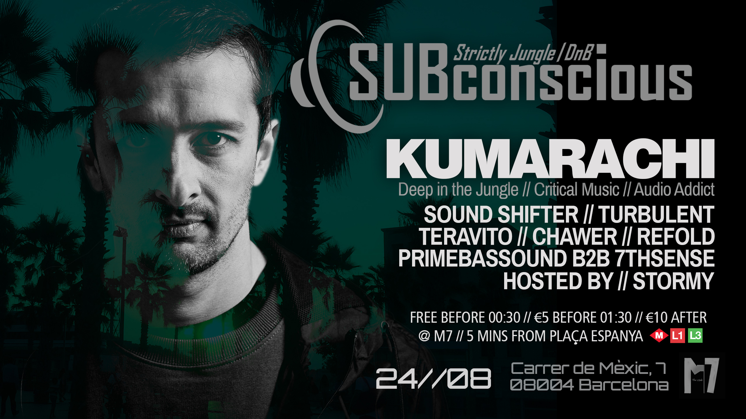 SUBconscious at The Club M7 Barcelona 24th August 2019 Barcelona